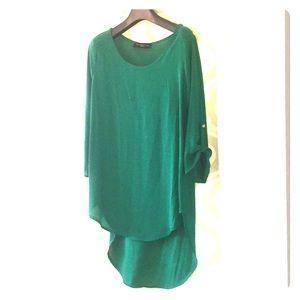 Kelly green tunic